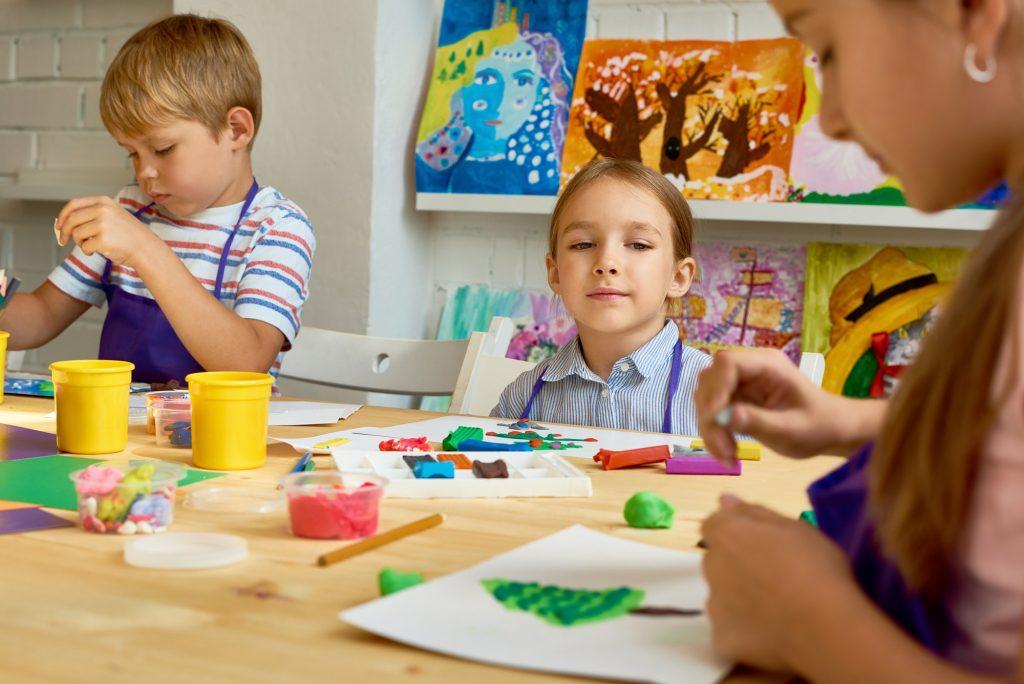 Group of Children in Development School